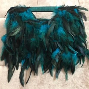 Hand customized - FEATHERED CLUTCH